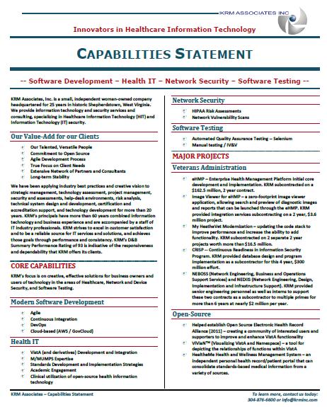 KRM Capabilities Statement