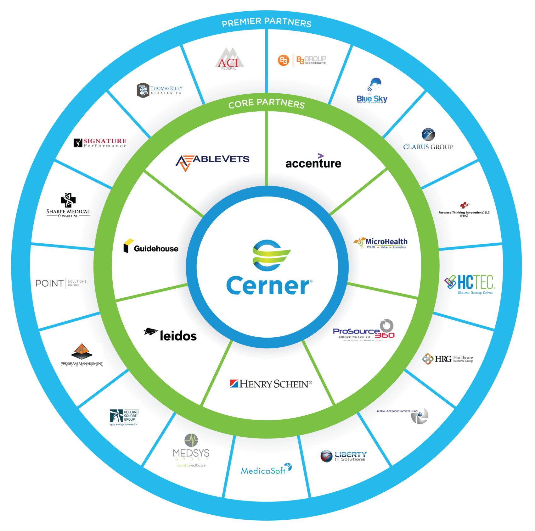 Cerner VA Partnership Wheel